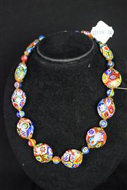 Sale 8396A - Lot 14 - Murano Glass Millefiori Necklace