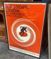 Sale 9087 - Lot 2069 - Alfred Hitchcocks Vertigo Movie Poster (Italian, re-lease edition) 102 x 73 cm -