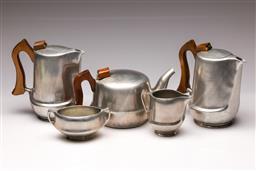 Sale 9114 - Lot 4 - Picquot ware tea/coffee service