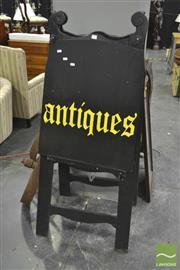 Sale 8284 - Lot 1062 - Timber Antique Sign