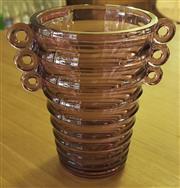 Sale 8319 - Lot 418 - A purple glass art deco vase
