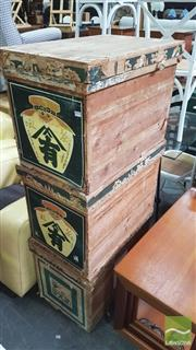 Sale 8390 - Lot 1513 - Japanese Tea Chests (3)