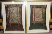 Sale 8422 - Lot 87 - Eastern Pair of Framed Tapestries