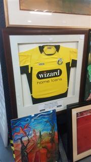 Sale 8433 - Lot 2038 - Wellington Football Championship Mounted Jersey