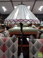 Sale 8480 - Lot 1029 - Leadlight Shade Standard Lamp