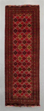 Sale 8493C - Lot 21 - Afghan Qunduzi 275cm x 95cm
