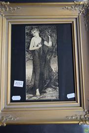 Sale 8578T - Lot 2032 - Hindmarsh Jamieson - Untitled, 1933 (Female in Garden) 23 x 10cm