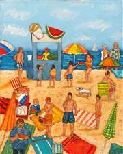 Sale 8675A - Lot 5086 - Stanley Perl (1942 - ) - Fun in the Sun III 50.5 x 40cm