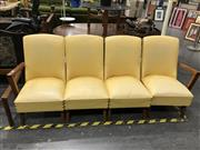 Sale 8805 - Lot 1017 - Retro Four Seater Leather Lounge Suite