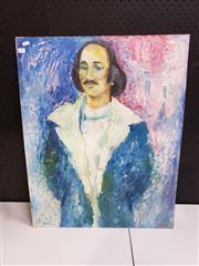 Sale 8958 - Lot 2084 - Pat Qua - Portrait of David Barraclough acrylic on board, 76 x 60.5cm (unframed)