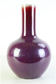 Sale 8994 - Lot 42 - Sang De Boeuf Long Necked Vase H:37cm