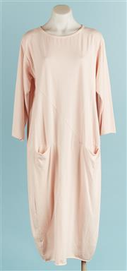Sale 9071F - Lot 37 - A 3/4 SLEEVE SMOCK DRESS; in pale pink (made in italy), size M