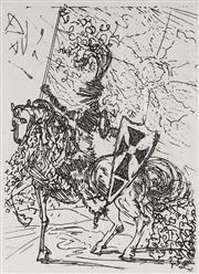 Sale 9081A - Lot 5087 - Salvador Dali (1904 - 1989) - El Cid 17 x 12 cm (frame: 56 x 51 x 3 cm)