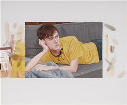 Sale 9084 - Lot 598 - Sean Meilak (1975 - ) - Chris (Lying), 2004 45.5 x 54 cm (frame: 54 x 61 x 4 cm)