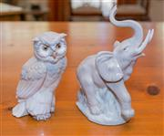 Sale 8368A - Lot 63 - A Nao owl, together with a Nao elephant H 23 cm
