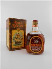 Sale 8498 - Lot 2021 - 1x William Whiteley & Co. Kings Ransom - Round the World Scotch Whisky - Glenforres Glenlivet Blend, old bottling, some losses, in...