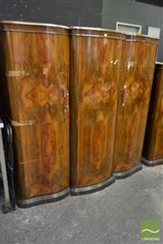Sale 8507 - Lot 1008 - Art Deco Walnut Veneered Two Door Wardrobe