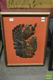 Sale 8537 - Lot 2067 - Indonesian Framed Timber Carving, Frame Size: 47 x 35cm