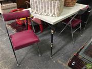 Sale 8601 - Lot 1546 - Retro Five Piece Dining Setting