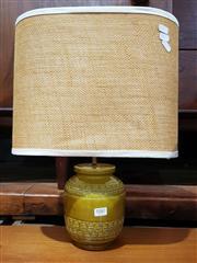 Sale 8705 - Lot 1087 - Mustard Ceramic Bitossi Table Lamp