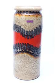 Sale 8725 - Lot 95 - Large Scheurich West German Pottery Vase (H:42cm)