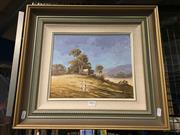 Sale 8767 - Lot 2024 - William Kennedy Mitchell - Paddys River Property 1988, oil on canvas board, frame size: 43 x 48cm signed lower right