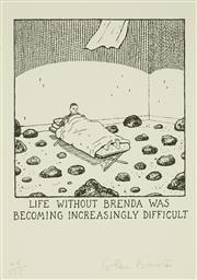 Sale 8847A - Lot 5060 - Glen Baxter (1944 - ) - Life without Brenda 26 x 38cm