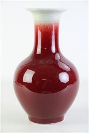 Sale 8902C - Lot 677 - Flambe Chinese Vase H:29cm
