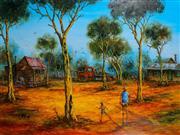 Sale 8972A - Lot 5015 - John Cobby (1957 - ) - A Walk with the Boy 59 x 79 cm