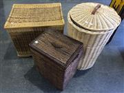 Sale 9006 - Lot 1042 - Collection of 3 Cane Hampers (various sizes)
