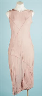 Sale 9071F - Lot 39 - A PHILOSOPHY BY ALBERTA FERRETTI SLEEVELESS DRESS; in sheer cherryblossom pink,  size AUS 8