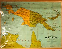Sale 9114 - Lot 82 - Pair of vintage maps Of New Guinea And Se East Australia