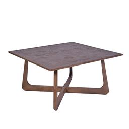 Sale 9140F - Lot 35 - Contemporary new elm wood coffee table in natural brown. Dimensions: W89 x D88 x H45 cm