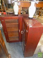 Sale 8495F - Lot 1055 - Glass Front Corner Bookcase