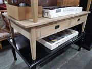 Sale 8688 - Lot 1065 - Greywash Oak Coffee Table (H: 42 L: 140 W: 69.5cm)