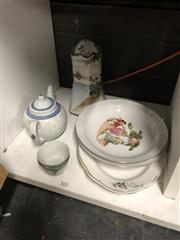 Sale 8789 - Lot 2387 - Collection of Ceramics incl. Serving Dishes, Teapot, Teacups and Bowls