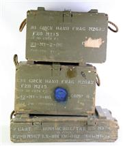 Sale 8952M - Lot 689 - Set Of Three Timber Ammo Boxes