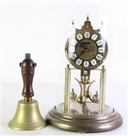 Sale 8985 - Lot 54 - A Haller Dome Clock (H 29.5cm) Together with A Small Hand Bell