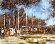 Sale 9021 - Lot 503 - John Guy (1944 - 2000) - Afternoon Waterstop near Roma c1900s, 1981 39.5 x 50 cm (frame: 53 x 63 x 4 cm)