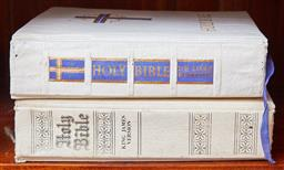 Sale 9103M - Lot 489 - Two editions of the King James Holy Bible.