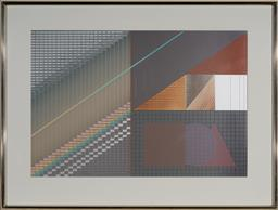 Sale 9133 - Lot 598 - D. Munz Patterns screenprint, collage and embossing, ed. 210/230 68.5 x 101 cm (frame: 98 x 130 x 4 cm) signed lower right