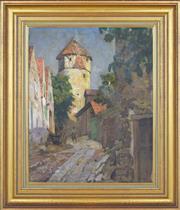 Sale 8349A - Lot 132 - Artist Unknown (XX) - EuropeanTown Scene 53 x 42.5cm