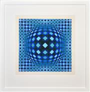 Sale 8408 - Lot 588 - Victor Vasarely (1908 - 1997) - Untitled 51 x 51cm (frame size: 89 x 87cm)