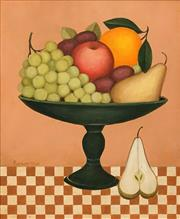Sale 8575 - Lot 587 - Frances Jones (1923 - 1999) - Fruit Bowl with Pear 29.5 x 24.5cm