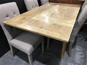 Sale 8962 - Lot 1050 - Natural Oak Extension Dining Table (H: 78, L: 90 / 165cm)