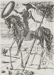 Sale 9081A - Lot 5088 - Salvador Dali (1904 - 1989) - Don Quixote 17 x 12 cm (frame: 56 x 51 x 3 cm)