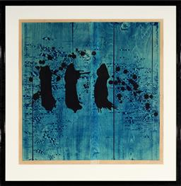 Sale 9133 - Lot 597 - Taika Kinoshita Image 18b, 1987 woodblock print, ed. 2/10 79 x 79 cm (frame: 107 x 104 x 3 cm) signed and dated lower right
