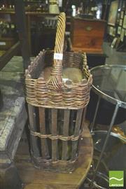 Sale 8371 - Lot 1063 - Wicker bottle carrier.