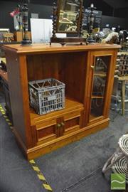 Sale 8398 - Lot 1049 - Pine Entertainment Cabinet