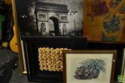 Sale 8464 - Lot 2070 - 2 Prints, Wall Hanging & 3D Picture